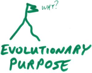 Evolutionary purpose illustration in green